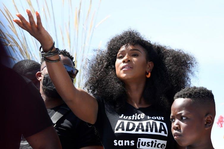 Assa Traore, militante et organisatrice de manifestations contre les violences policières en France